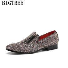 Блестящие мужские лоферы; Мужские модельные туфли; Свадебная обувь; Мужская обувь для вечеринки 2020 года; Мужская элегантная обувь; Zapatos De Hombre...(China)