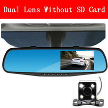 car camera rearview dual lens mirror auto dvrs cars dvr parking  video recorder registrator dash cam full hd 1080p night vision(China (Mainland))