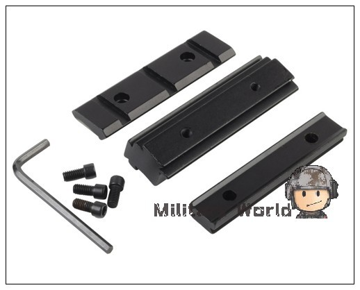 Tactical Military Airsoft Accessory Rail Dovetail 11mm to 20mm Weaver Picatinny Rail Adapter Hunting Shooting Free