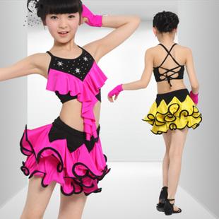 Samba dance dress Latin dance performance wear female Latin dance skirt child dance modern costume salsa dacing dress(China (Mainland))