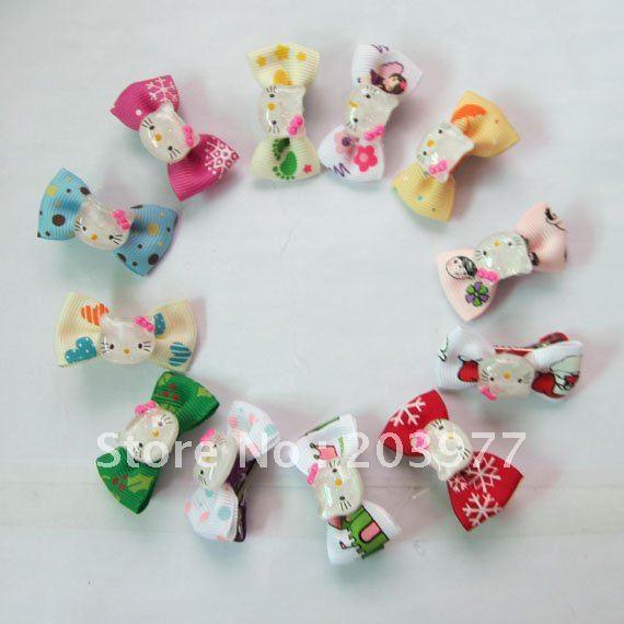 Baby Gril Headwear Hello Kitty Bowknot Hair Clips, Fashion Kid's Hair Accessories WD027