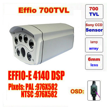 Free shipping infrared video camera ccd sony effio-e 700 tvl high definition surveillance camera six lamps array waterproof<br><br>Aliexpress