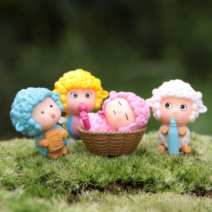 artesanato mini jardim:Cartoon Garden Fairy Figurines
