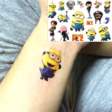 Beckham Minion Toy Temporary Flash Tattoo Body Art Despicable Me Sticker 17 10cm Waterproof EN71 Quality