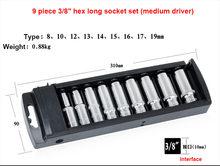 "1/4 ""1/2"" 3/8 ""Ratchet Wrench Soket Set CR-V Torx Bintang Bintang Kombinasi Soket Drive Kacang Set untuk perbaikan Mobil Mobil Tangan Alat(China)"