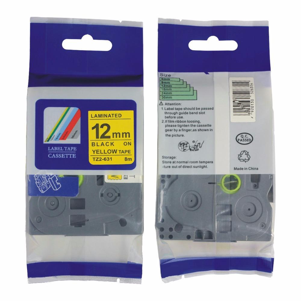 Compatible brother TZ tapes offered TZ 231 TZ 431 TZ 531 TZ131 TZ 631 12mm TZ