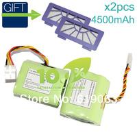2 Piece 7.2v 4500mAh Battery for Neato XV-11 XV-12 XV-14 XV-15 XV-21 Vacuum Cleaner Battery Neato HEPA Filter