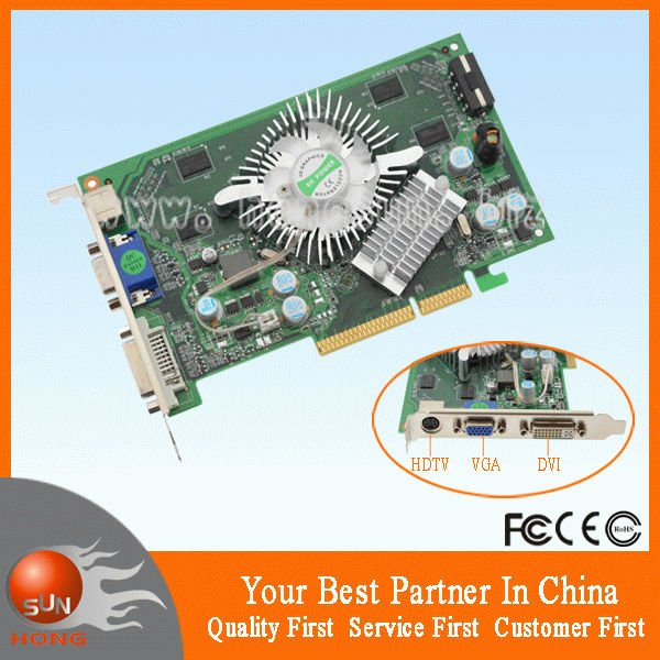 Free Shipping for New NVIDIA GeForce 7600GS 512MB 128BIT AGP Graphics Card P508 compatible with Windows 7<br><br>Aliexpress