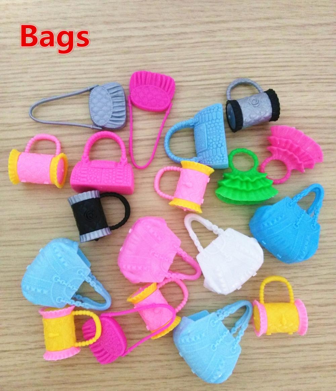 5PCS Bobbi Doll Accessories DIY 1/6 Girls Ladies Dolls's Fashion Mix-style Plastic Bags Handbags Kelly baby-reborn(China (Mainland))