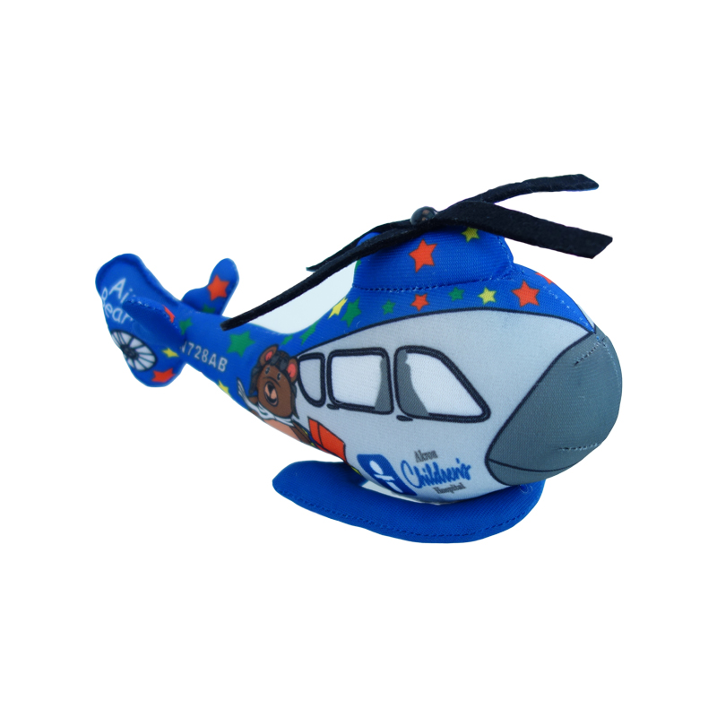 cartoon Helicopter toys for kids boys lifelike high quality airplane doll 20CM blue cartoon printed boys toy unique gifts cute(China (Mainland))