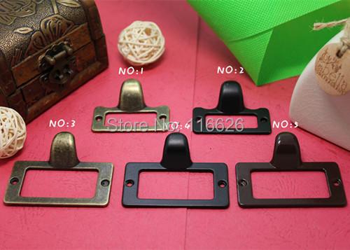 NEW!Free shipping 5design 30pcs zinc alloy plating vintage diy frame metal tags holder home furniture/box drawer handle w/screws(China (Mainland))
