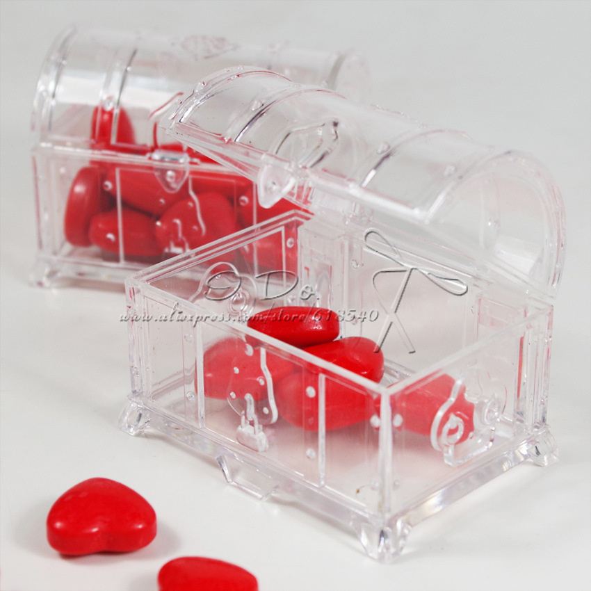 Clear Party Favor Boxes Michaels : Free shipping pcs clear wedding favor boxes