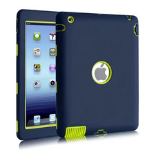 NEW For Apple ipad 2/ipad 3 4 case Amor Heavy Duty Drop resistance Shock Proof tablet Case free Screen protector film+stylus(China (Mainland))