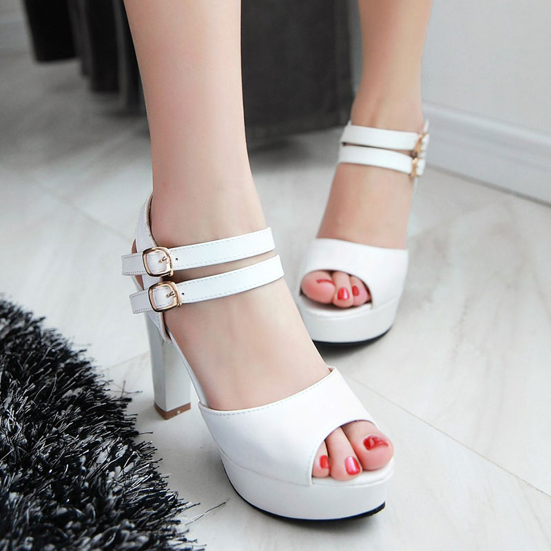 Women Sandals buckle Sexy Ultra High Heels Open Toe Platform Gladiator Summer Shoes Outdoor Dress Sandals Big size 32-45 AA477<br><br>Aliexpress