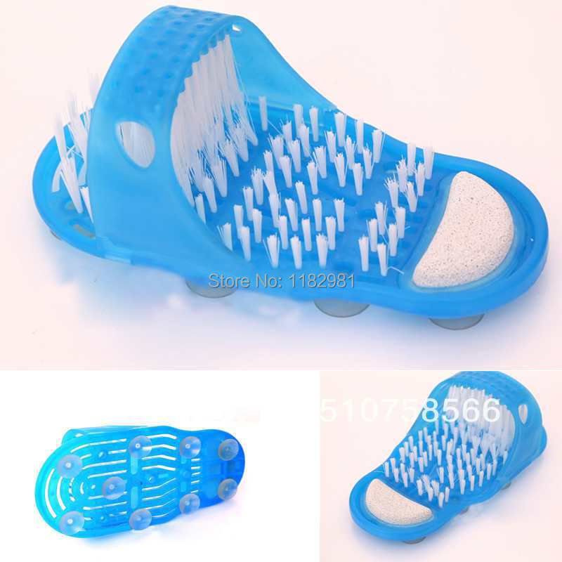 New Reliable Easyfeet Easy Feet Foot Scrubber Brush Massager Clean Slippers Bathroom Foot Care Tool Gift Free Shipping 5GMRsN(China (Mainland))