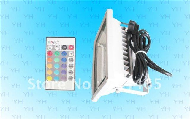 remote control led flood light,85-265v outdoor use,30w RGB led remote control wallwasher light,for park,garden,square decoration