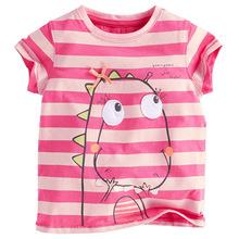 1-6 Years Brand Children T-shirt Girls Stripe t Shirt Tees baby Girl Short Sleeve T shirts clothes NEXT Style Kids Summer