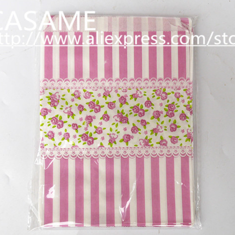 """100pcs/lot, 5"""" x 7"""" Pink Flower Design Craft Paper Popcorn Bags, Party Treat Favor Paper Bag, Paper Bag for Gifts and Candy(China (Mainland))"""