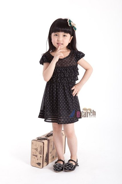Free shipping!!Factory Direct! HOT SELLING! TOP QUALITY! Children's clothing fashion baby girls short-sleeved lace dress  A1034