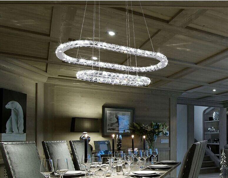 restaurant moderne gradateur ovale lustre en cristal luminaire piste anneau lustre suspendu. Black Bedroom Furniture Sets. Home Design Ideas