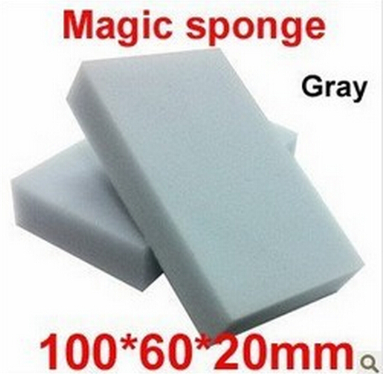 10 pcs/lot Gray Magic Sponge Eraser Melamine Cleaner,multi-functional Cleaning 100x60x20mm Wholesale Retial Free Shipping(China (Mainland))