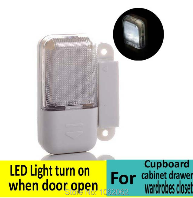 Cupboard cabinet drawer wardrobes closet LED lights Light turns on when door is opened Freeshipping(China (Mainland))