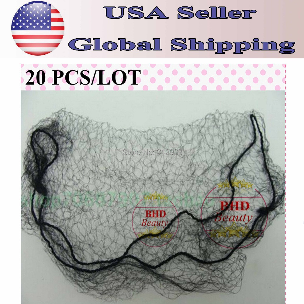 20pcs Cheap Ultrafine invisible elastic fine mesh wig/toupee/hair extension/weft protection net mesh(China (Mainland))