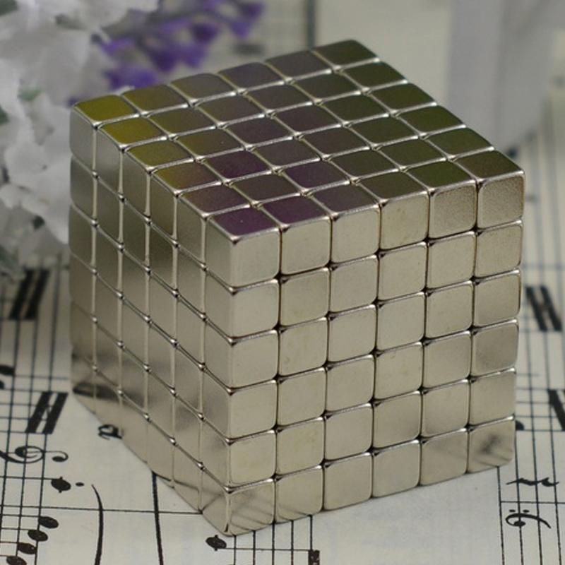 216 pcs Magnetic Balls Cube Size: 4mm, 5mm Neo Magic Cube Block Nickel Magnet Ball Magic Education Puzzle Toy Metal Box+bag+card(China (Mainland))