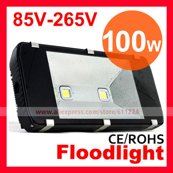 100W 2 heads LED Floodlight Tunnel Light Outdoor Lighting Tunnel Lamp 85V-265V 2 Years Warranty  by Fedex /DHL