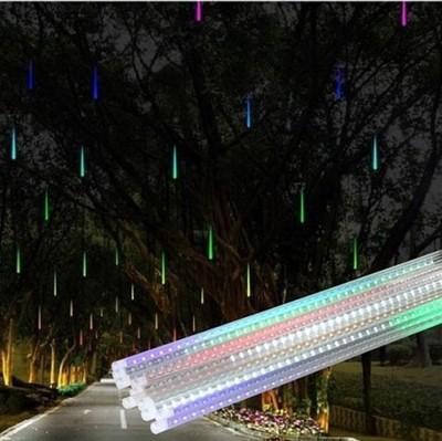 Led Icicle String Lights With Ice Drop : 50cm 8Tubes Rain Drop/Icicle Snow Fall String LED Xmas Tree Cascading Light Decor garden light ...