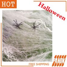 Halloween Stretchable Spider Webs Halloween Decorations Holiday Props Haunted house Free Shipping(China (Mainland))