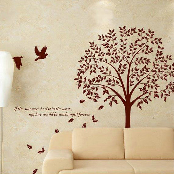 Giant Bodhi Tree Wall Art Decal Removable Vinyl Stickers Mural Home Decor Deco(China (Mainland))
