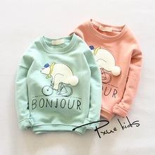 New 2016 outwear Polar Bear boys clothes, girls nova sweatshirts, kids children hoodies Autume Spring Tops & Tees 2-7Y(China (Mainland))