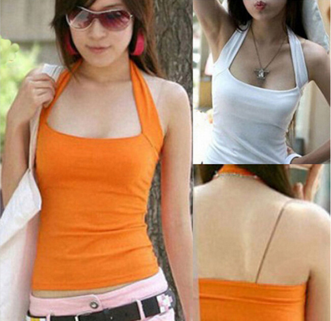 wholesalehot sale sexy womens lady low cut halter neck