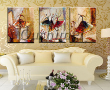 girls sex picture dancer girl painting bedroom decorating decorative and modern oil paintings abstract paintings for living room(China (Mainland))