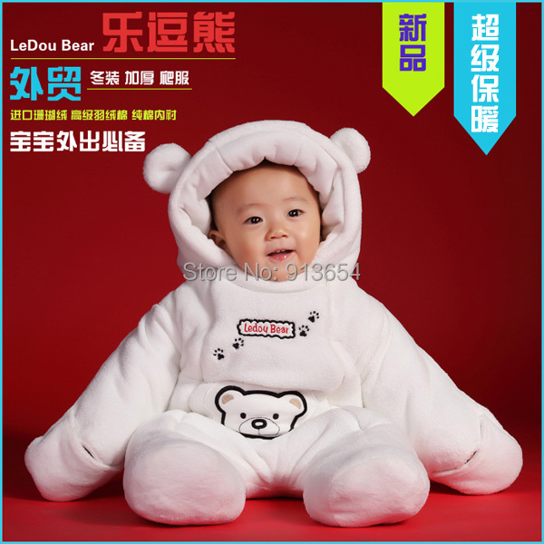 2014 autumn winter romper baby clothing newborn Thick cotton Rompers boy / girl warm cartoon bear jumpsuit costume - Sunny Baby fashion Store store