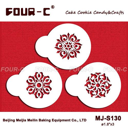 Rosettes cupcake stencils,cookie stencils,classic coffee stencils,cake mold, fondant cake decorating tools(China (Mainland))