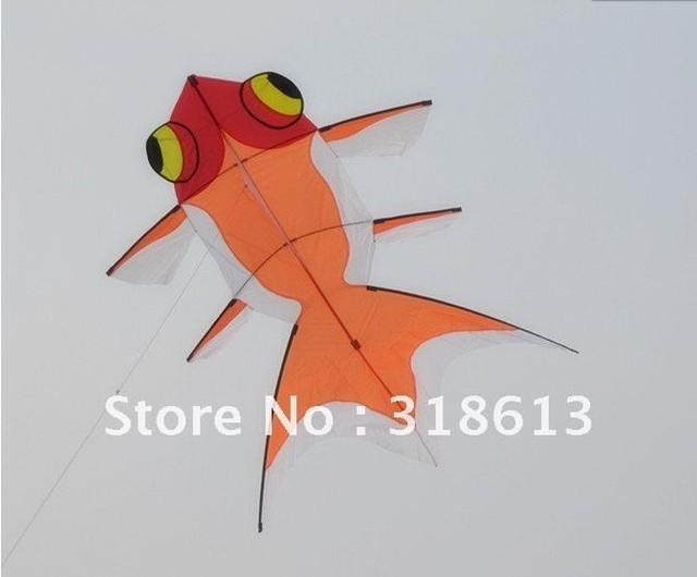 Golden Fish Kite 160*120cm,Nylon Kite With Kite Handle & Line Free shipping