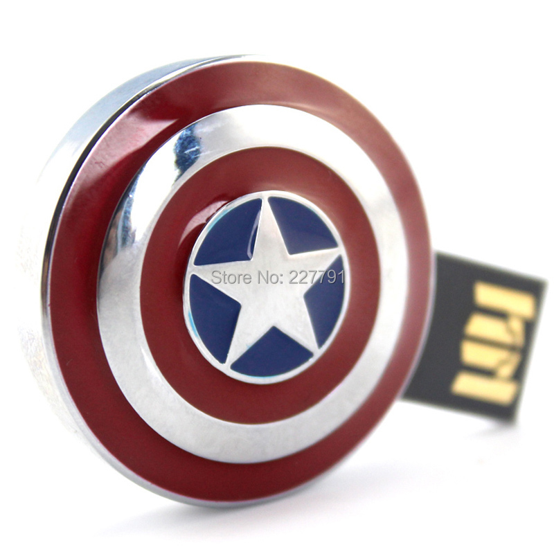 Captain America Man Usb Flash Drive Gifts, Shield Pen drive 8gb 16gb 32gb, usb pendrive memory stick - Smile Digital Technology Co., Ltd. store