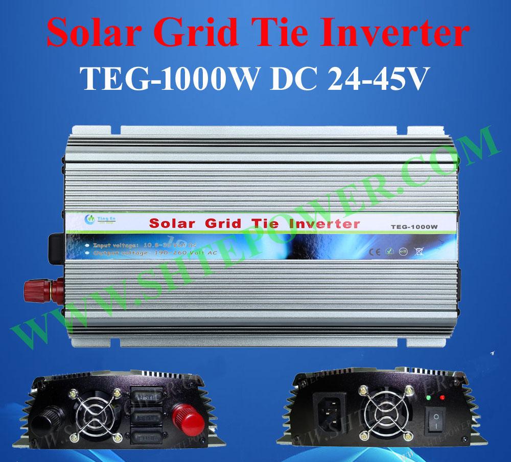 dc 24-45v to ac 90-130v solar grid tie inverter 1000w ,pure sine wave inverter 1000w(China (Mainland))