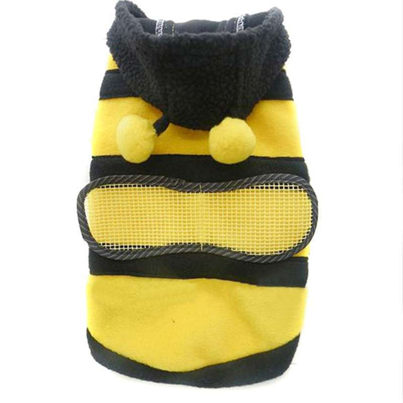 Dogs Pets Clothing Clothes Cute Fleece Bumble Bee Lovely Wings Dog Cat Pet Harness Costume Apparel Coat Free Shipping Y50*MHM468(China (Mainland))