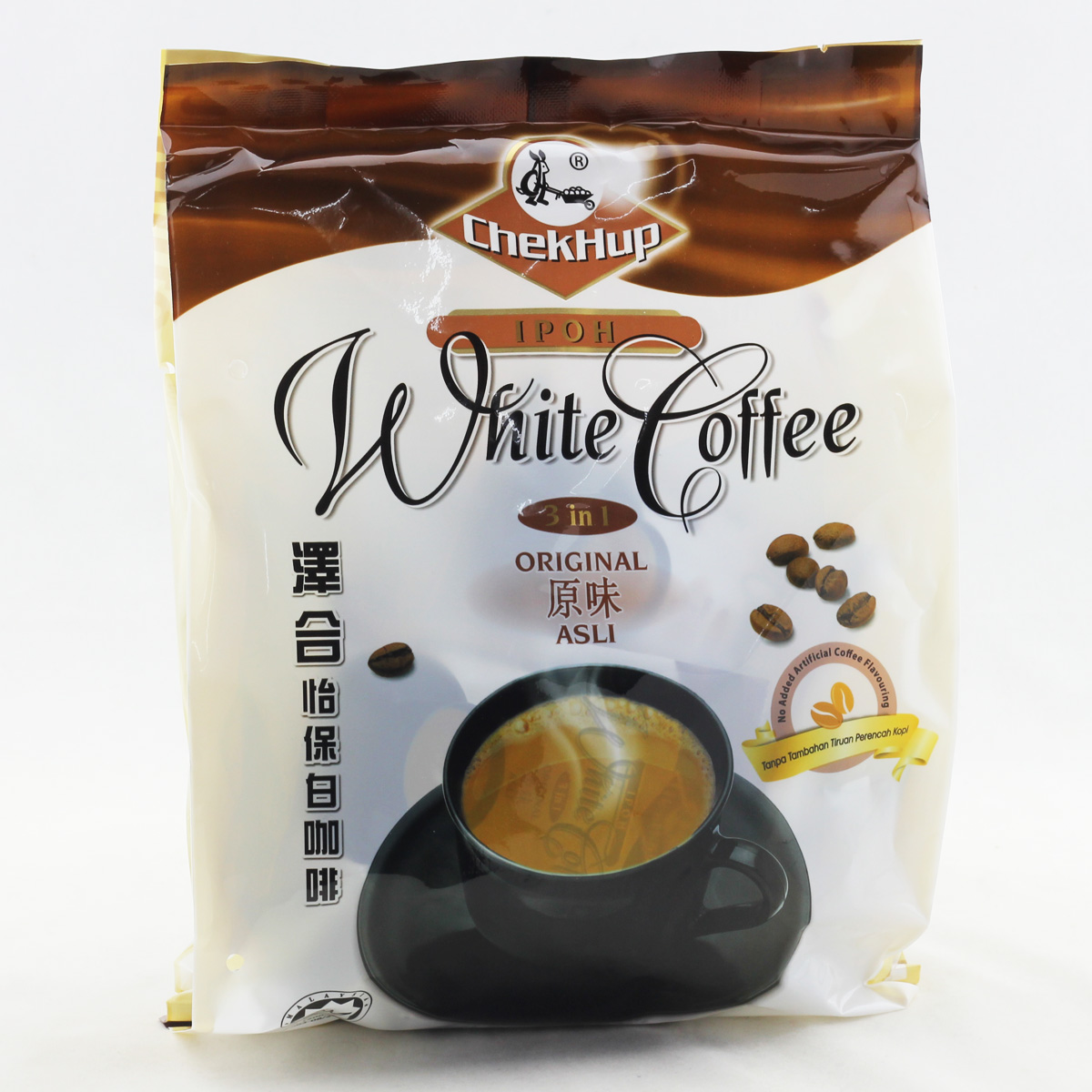 Malaysia Instant White Coffee 600g CheKHUP Original Taste three in sugary Milk Coffee Powder Grain Tea