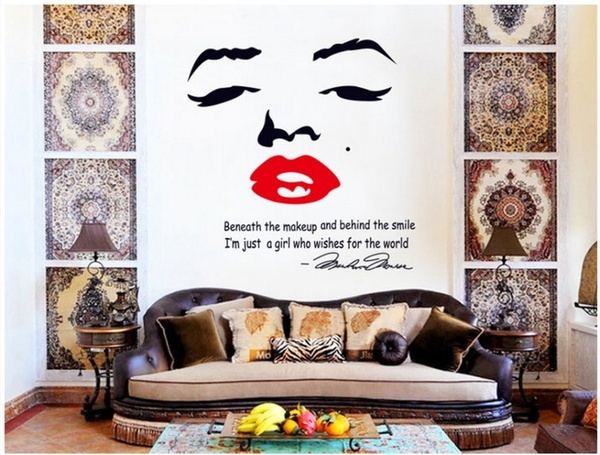 Marilyn Monroe Wall Stickers Home Decor Creative