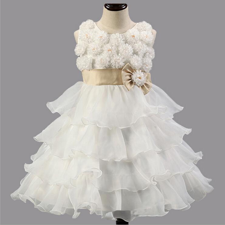 Chirstmas Kids Dress 3D Flower Tutu Rose Baby font b Girl b font Princess font b