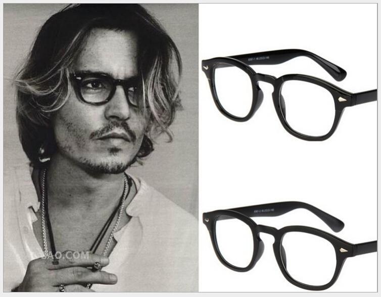 2015 Brand Johnny Depp Glasses Men Women Retro Vintage Optical Eyeglasses Myopic Glasses Frame High Quality Oculos de grau G465(China (Mainland))