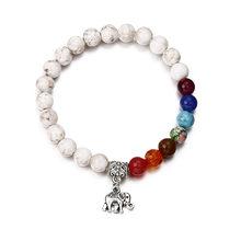 NS19 Nuovo 7 Chakra Bracciale Uomo Nero Della Lava Healing Equilibrio Perline Buddha di Preghiera di Reiki Pietra Naturale Yoga Braccialetto Per Le Donne(China)