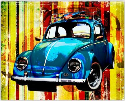 Free Shipping Color Car Canvas Art Print Painting Poster, Wall Picture for Home Decoration, Canvas Painting No Frame