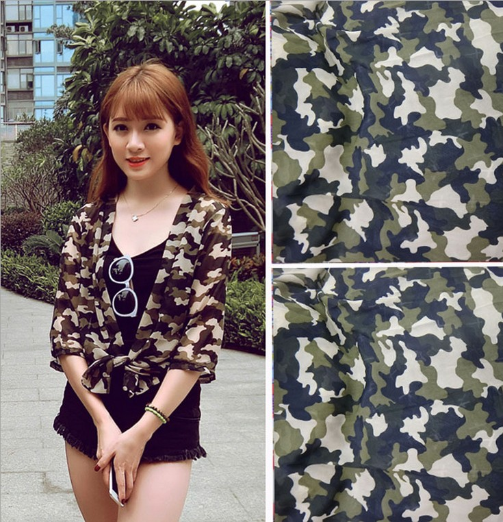 The supply of 100D polyester fabric printed chiffon fabric camouflage fabric Chiffon printed cloth direct explosion fabrics(China (Mainland))