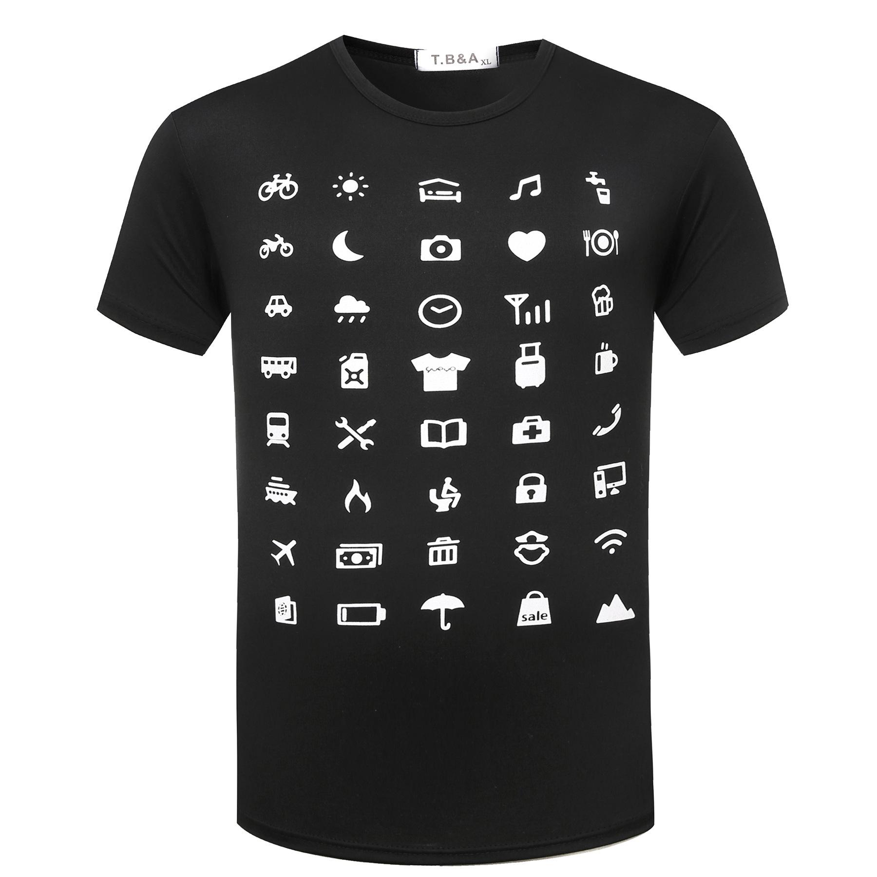 Travel Icon T-Shirt Summer Traveller Backpacking Global World Tee Iconspeak White T Shirts Unisex Funny Tops Tee Shirt For Men(China (Mainland))
