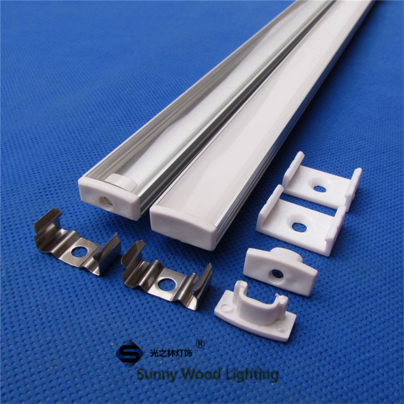 5pcs/lot 0.5m/pc led channel aluminum profile for 5050 led strip,milky/transparent cover for 12mm pcb CC-17.5*7(China (Mainland))
